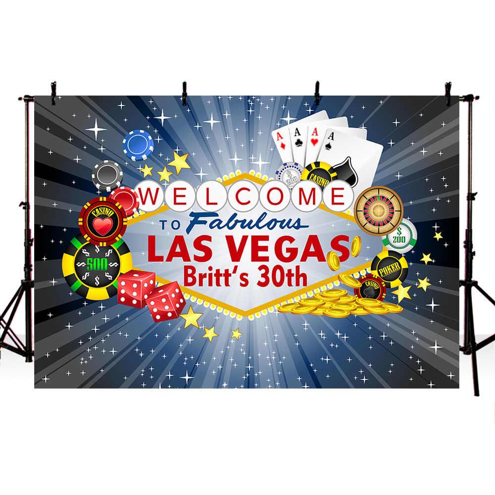 Centrum konferencyjne Las Vegas zapraszamy do miasto nocą tła dla fotografii Photocall sesja zdjęciowa tło Studio drukowane 970