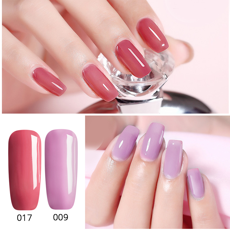Saviland Newest 3 In 1 Gel Nail Varnish Pen Glitter One Step Nail Art Gel Polish Hybrid 60 Colors Easy To Use UV Gel Lacquer