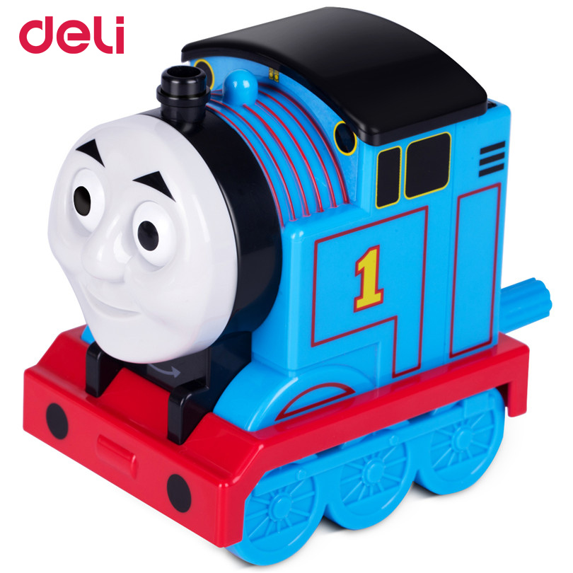 Deli new 2017 Stationery Cartoon Pencil sharpener Kawaii Thomas train Pencil Sharpener for kids school supplies pencil sharpener