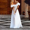 Hot Sale Fashion 2017 Women Sexy Long Maxi Dress Ladies Slash Neck High Waist Chiffon Vestidos Party Dresses Plus Size