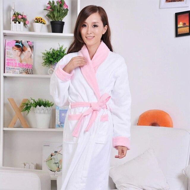 Хлопок Качество пижамы халат утолщение женские махровые халат полотенце халат осенью и зимой 100% хлопок пижамы