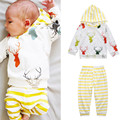 Christmas Infant Clothes Baby Clothing Sets Boy Cotton 2pcs Hooded Top+Pants Baby Boy Clothes Newborn Baby Boy Set