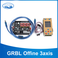 GRBL Offline Controller Board 3Axis Stepper Motor Double Y Axis USB Driver Board For 1610/2418/3018 Laser Engraving Machine Car