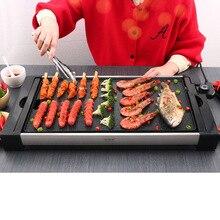 Электрический противень разделенный бытовой без дыма Железная Плита барбекю вкусное блюдо гриль и сковородка кухонная машина