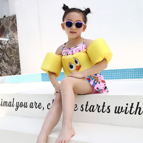 2018 Babycare 2-6Y Cartoon Children 3D Cartoon Learn To Swim Life Jacket Swim Arm Bands Float