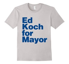 Shirts Trend Clothing Crew Neck Ed Koch For Mayor  Short Sleeve Office Mens Tee
