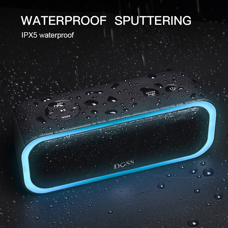 Image 5 - DOSS SoundBox Pro TWS Wireless Bluetooth Speaker 2*10 Drivers with Flashing LED Light Enhanced Bass Stereo Sound IPX5 Waterproof-in Portable Speakers from Consumer Electronics