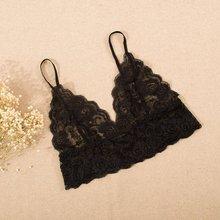 Women Halter Crochet Bralette Bra Unpadded Bustier Crop