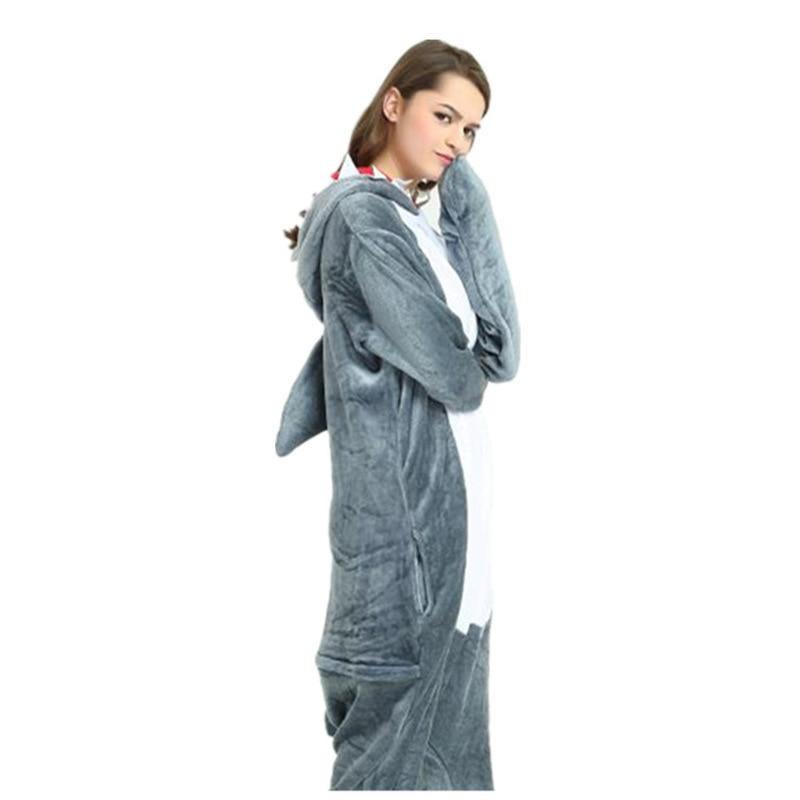 Kigurumi Adult Pijama Shark Unicorn Winter Animal Onesie Flannel Soft Men Pajama Sleepwear Onepiece Sleeping Jumpsuit Cosplay