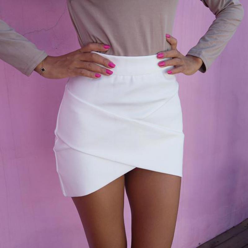 a28bf94ef € 24.31   Falda corta lapiz 2016 sexy elegante apretada corte tranversal en  Faldas de La ropa de las mujeres en AliExpress.com   Alibaba Group
