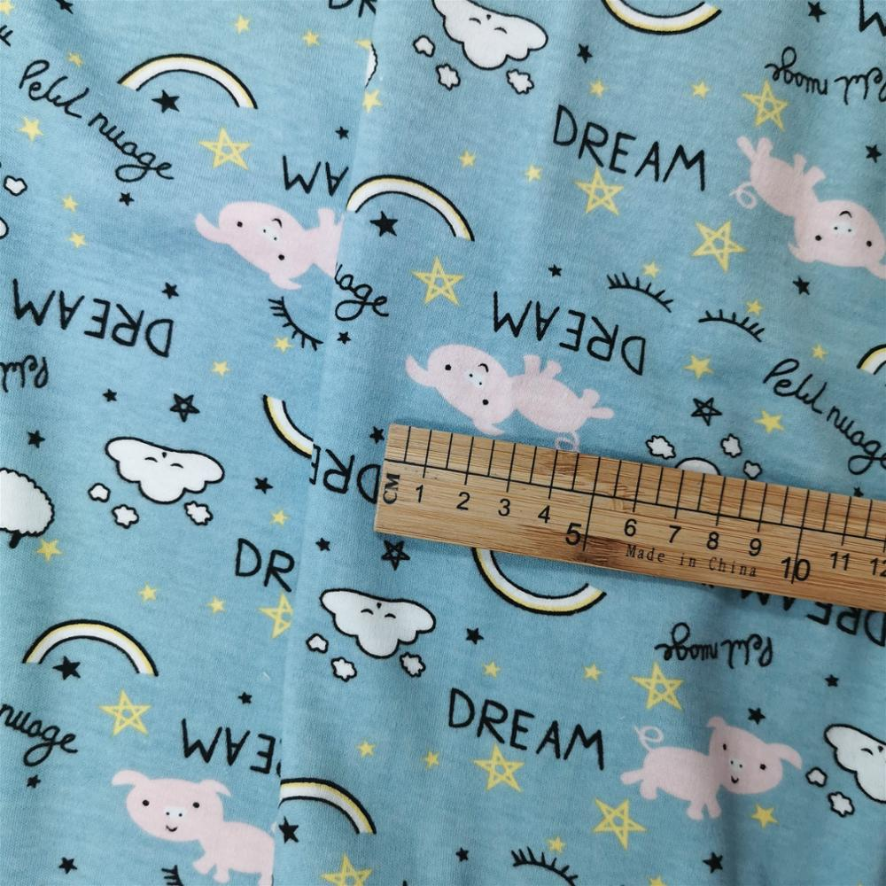 New Arrival cotton knitting fabric DIY sewing uphostery baby clothing cotton fabric 50 170cm in Fabric from Home Garden