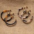 UJBOX леопардовые круглые серьги-Клипсы из ацетата с черепаховым покрытием, треугольные серьги-Клипсы из уксусной кислоты, E0111