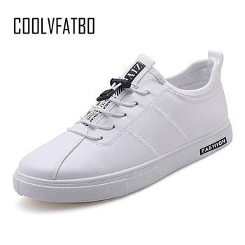 COOLVFATBO Men sneakers shallow solid men vulcanize shoes increase confortable light men shoes luxury brand