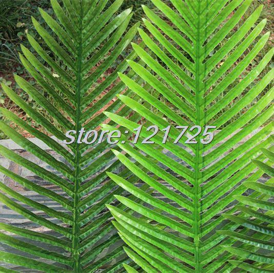 Roślin gałęzi drzewa zielony liść sztuczne liście palmowe 104 CM/85 CM lateksowe ślub meble do domu wystrój w Sztuczne i zasuszone kwiaty od Dom i ogród na  Grupa 2