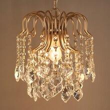 Amerikanischen land loft persönlichkeit retro kristall eisen kronleuchter esszimmer schlafzimmer lampe