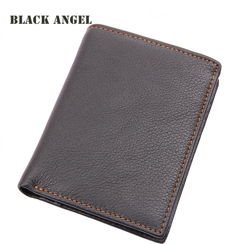 Genuine Cow Leather Men Wallets Fashion Coin Pocket Brand Male Wallets Removable Card Holder Purse
