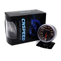 CNSPEED 60MM Car Oil Temperature Gauges 50 150C Oil Temp With Sensor Black Face White Amber