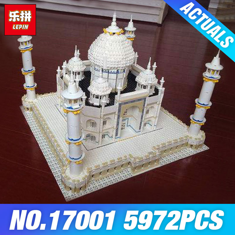 New LEPIN 17001 5972PCS The Tai Mahal Model Building Kits Brick Toys Compatible  10189 Gift Educational Children Day's DIY Gift new lepin 22001 pirate ship imperial warships model building kits block briks gift 1717pcs compatible diy 10210 educational toys