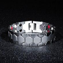 7SEAS Energy Magnet Health Titanium Bracelets Магнітна Терапія Браслети Чоловіча Ювелірні вироби 7S002