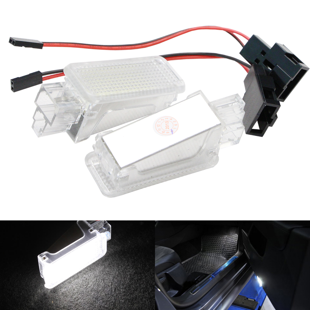 цена на 2pcs Error Free LED Courtesy Glove Box Under Door Foot Light for VW Touareg Tiguan Eos Passat for SKODA SUPERB 2016 - 3V