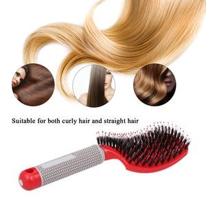 Image 5 - Abody שיער מברשת עיסוי מסרק ניילון מברשת שיער נשים רטוב מתולתל Detangle שיער מברשת לעיסוי לסלון ביתי סטיילינג כלים