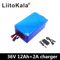 NEW 36V 12AH Electric Bike Battery Built in 20A BMS Lithium Battery Pack 36 Volt with 2A Charge Ebike Battery 36V Power Battery