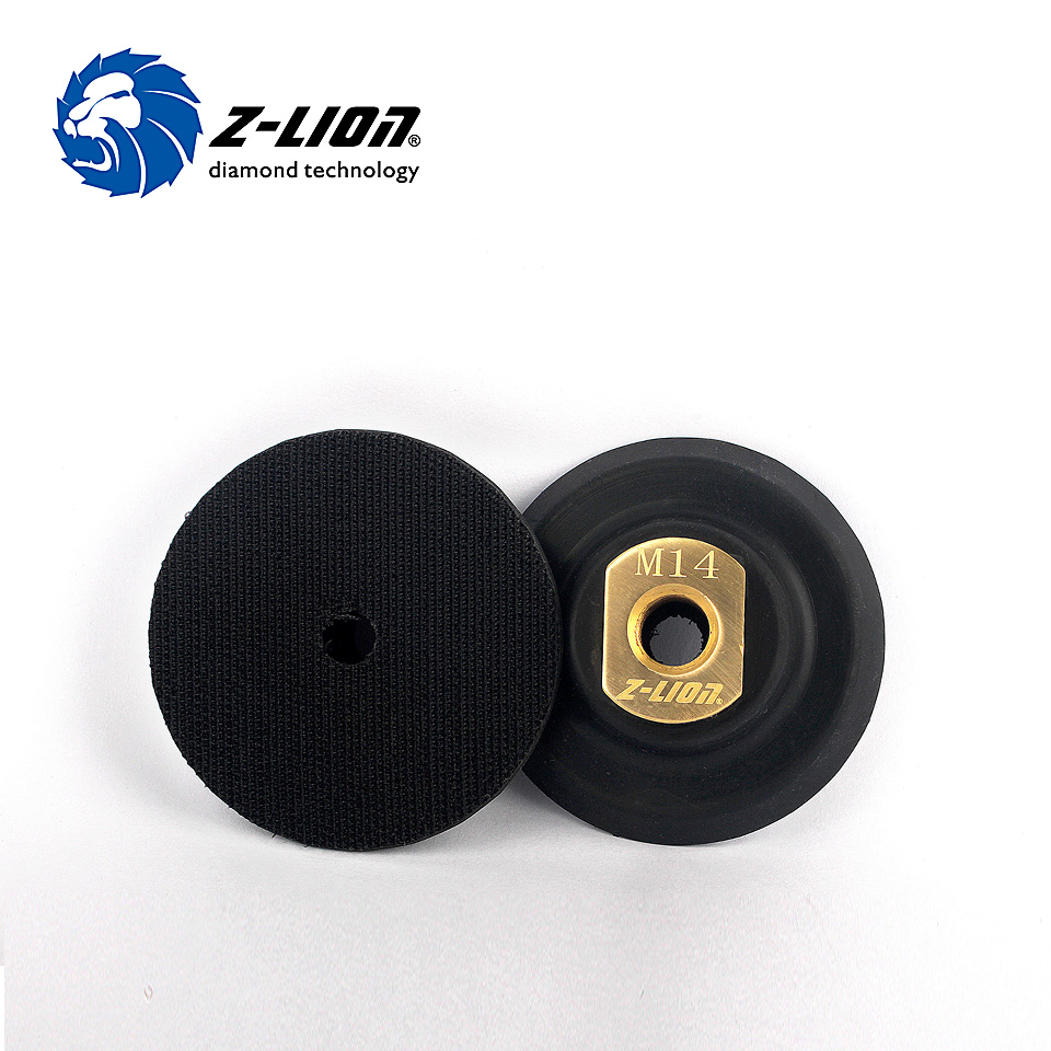 Z-LION 3 Inch Rubber Backer Pads For Flexible Polishing Pad M14 Or 5/8-11 Abrasive Tools 80mm Backer Holder For Polisher Pads
