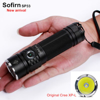 Sofirn SP33 LED Flashlight 18650 Cree XPL High Power Lamp Torch Light Powerful Flashlight 26650 Waterproof Lantern camping cycle