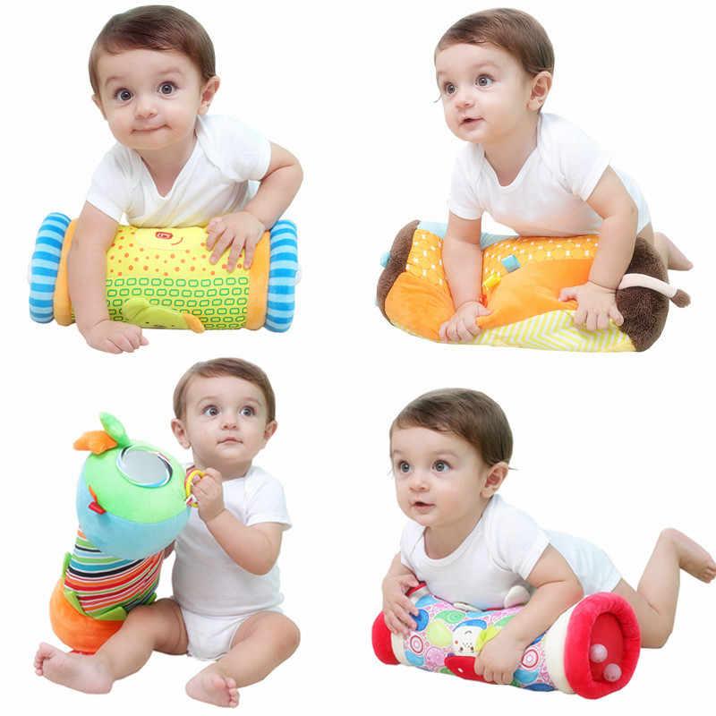 Кот Лев Медведь полоса безопасности зеркало детские многофункциональные вспомогательный учится ползать ролик малыша головоломки Фитнес ползающая игрушка