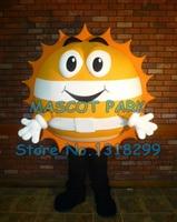 mascot cute golden happy sun mascot costume adult size customizable cartoon warm sunshine theme advertising fancy dress costumes