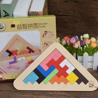 108 Different Combinations Tangram 3D Wooden Puzzle Toys For Kids Children Gift IQ Improve Jigsaw Board