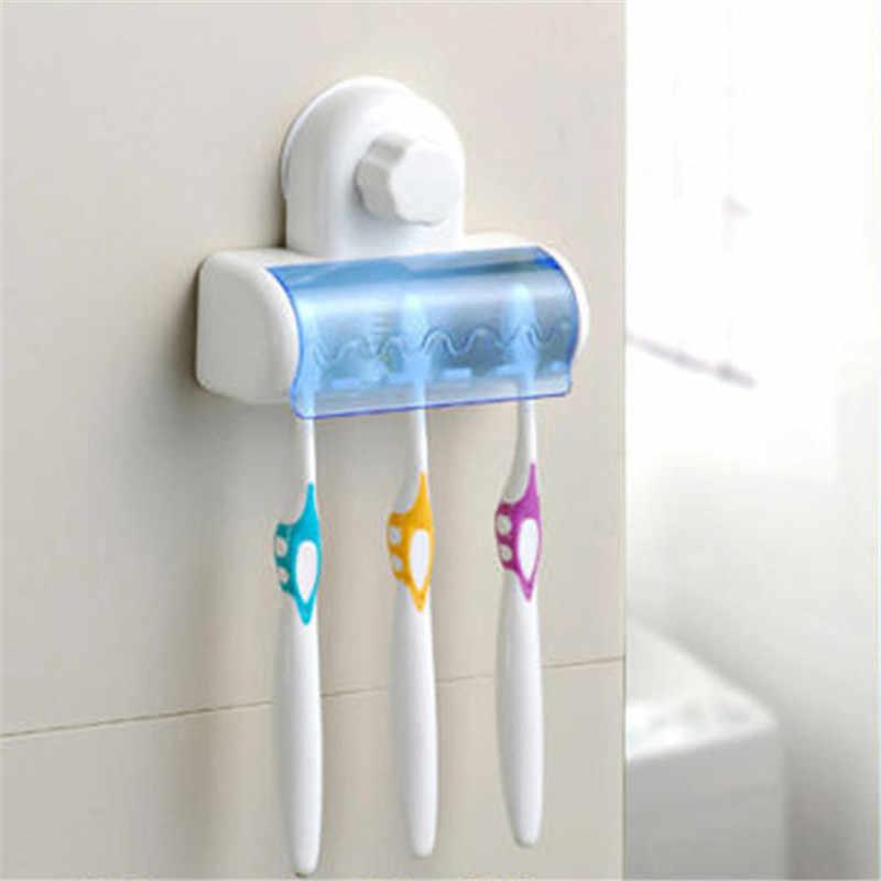 Nowy zestaw 5 strona główna łazienka szczoteczka do zębów uchwyt ssący stojak stojak uchwyt plastikowy uchwyt na szczoteczki do zębów udogodnienia do łazienki