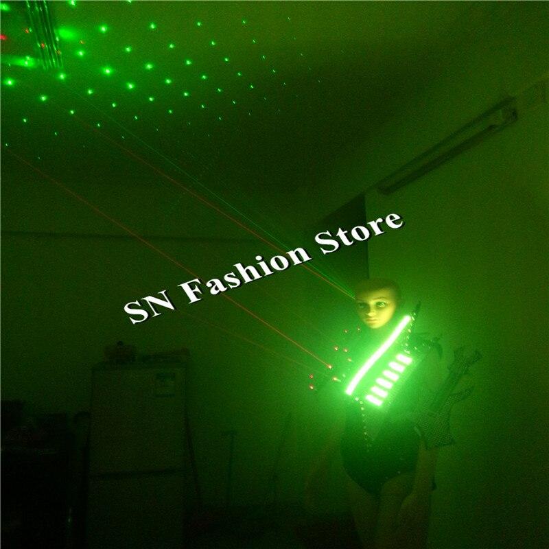 Gg20 красочные свет костюмы одежда жилет бюстгальтер бальных танцев Подиум Лазерная Человек платье Бар Party DJ Подиум Косплей пикантные носит
