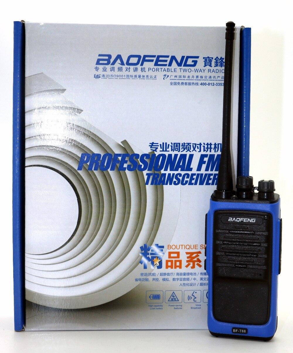 Baofeng BF-T88 Walkie Talkie BFT88 16CH 5 W UHF 400-480 MHz cb Portatile Radio Transceiver uso per la caccia meglio di BFBaofeng BF-T88 Walkie Talkie BFT88 16CH 5 W UHF 400-480 MHz cb Portatile Radio Transceiver uso per la caccia meglio di BF