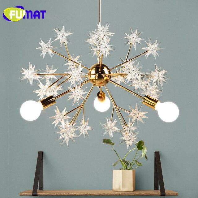 FUMAT Gold Plated Metal Spark Ball Pendant Lamps Art Star Light ...