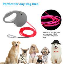 LED collar Dog Leash Luminous light running Pet Traction Rope Dog Traction Glowing Leashes Accessories Dog Supplies puppy Cats(China)