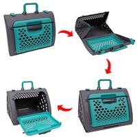 Binnenlandse Levering Pet Carrier Auto Reizen Hand Holding Kat zak Hond Opvouwbare en handig milieuvriendelijk pet Ademend