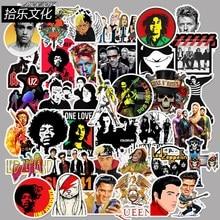 50PCS Rock Sticker Music Retro Band Graffiti JDM Stickers to DIY Guitar Motorcycle Laptop Luggage Skateboard Car Snowboard