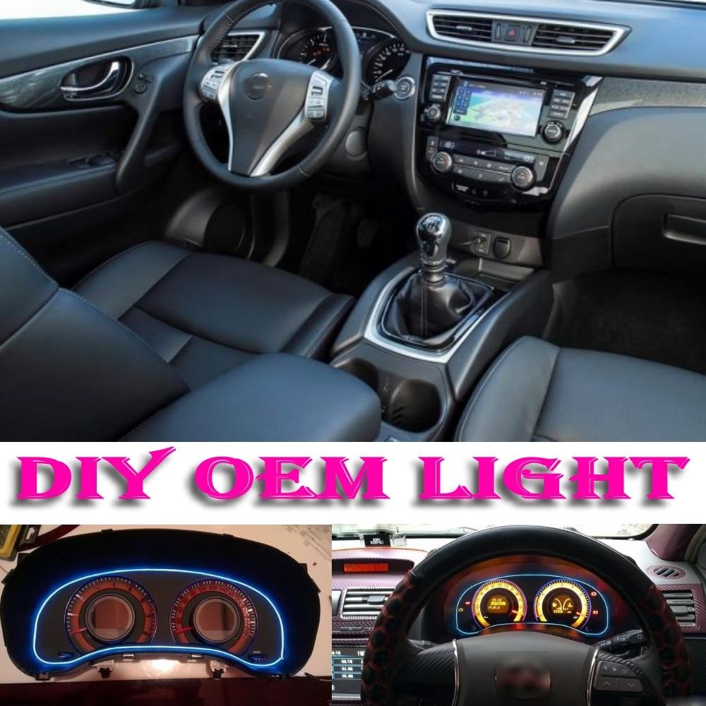 car atmosphere light flexible neon light el wire interior light decorative decals tuning for. Black Bedroom Furniture Sets. Home Design Ideas