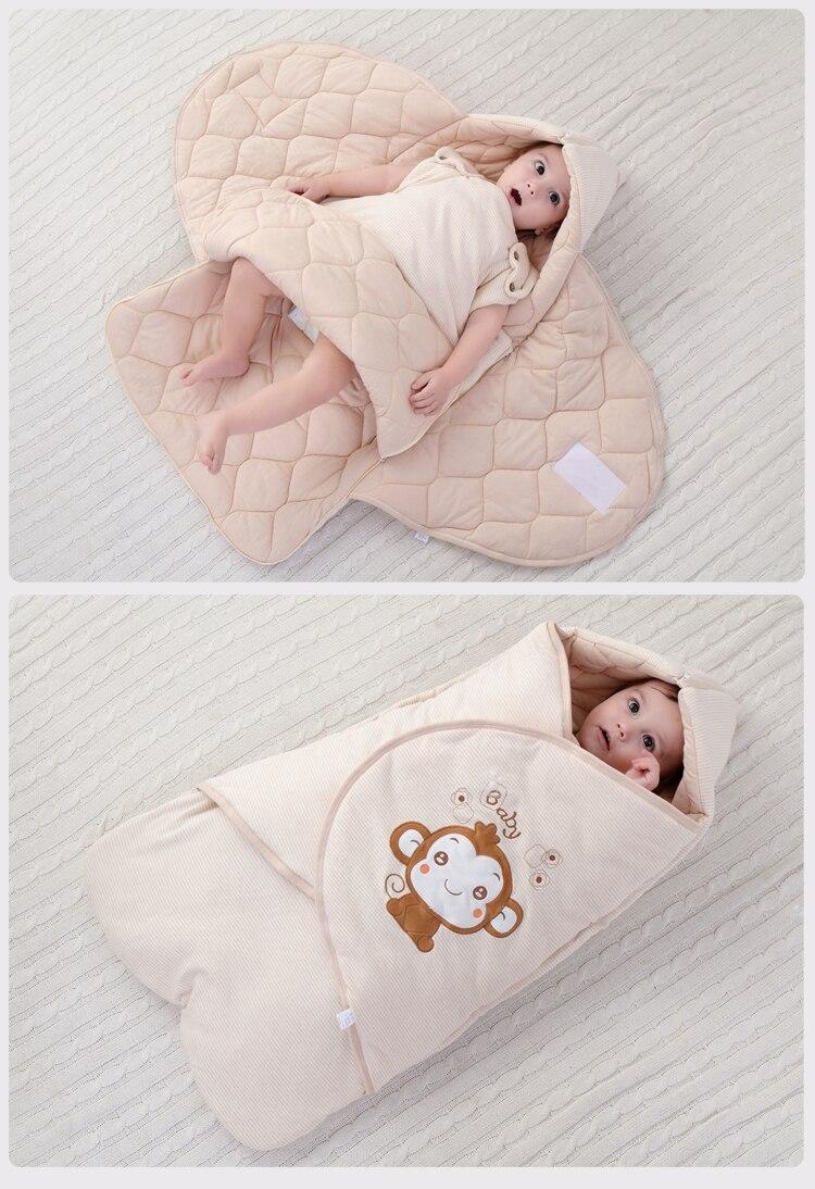 Newborn Infant Baby Cotton Blanket Wrap Sleeping Bag Sack Spring Autumn Baby Sleeping Sack Kangaroo Carrier Toddler Sleep Sack