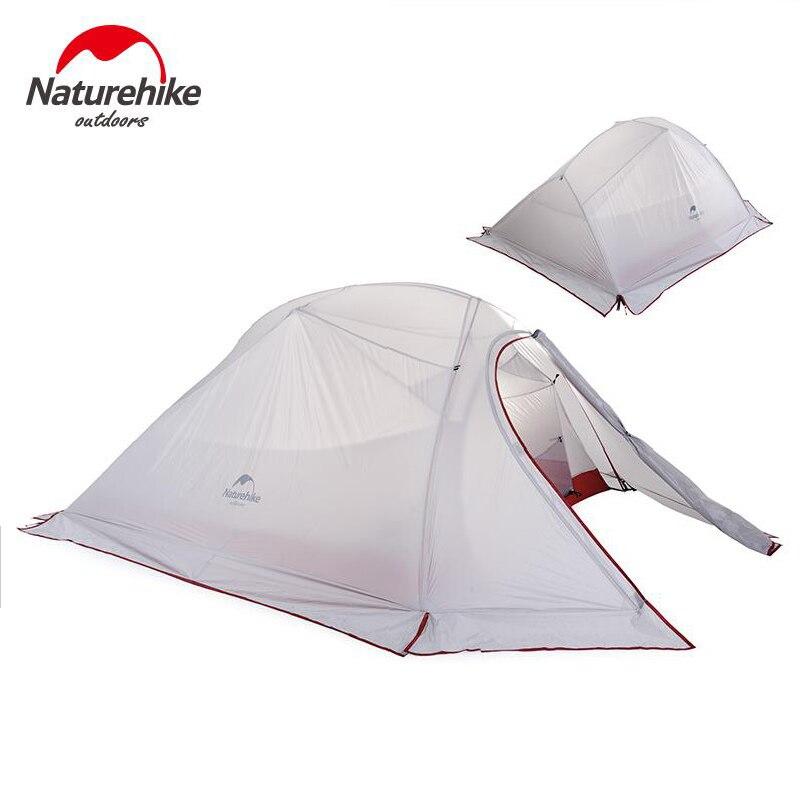Nature randonnée 3 personnes ultra-léger tente Camping Double couche tente en plein air randonnée pique-nique étanche tente NH15T003-T - 5