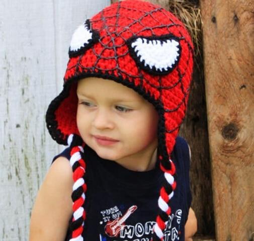 Childrens Caps Baby Hats 100 Hand Made Crochet Spider Man Hat In