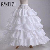 White Five Layers Petticoat For Wedding Dresses Women Underskirt White Jupon Crinoline Sottogonna Hoop Skirt Hoepelrok
