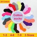 16 Colores Calcetines de Los Niños Del Otoño Del Resorte Lindo Del Color Del Caramelo de Algodón En Calcetines Para Bebés 2016 Kid Boy Color Sólido Deporte calcetines