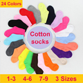 16 Colors Children Socks Spring Autumn Cute Candy Color Cotton In Tube Socks For Baby Girls 2016 Kid Boy Solid Color Sport Socks