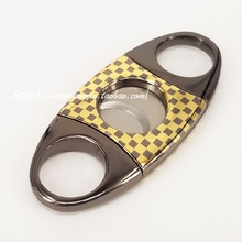 COHIBA Cigar Cutter Portable Pocket Gadgets Zigarre Cutter Knife Cuban Cigars Scissors  Accessories in gift pouch and box