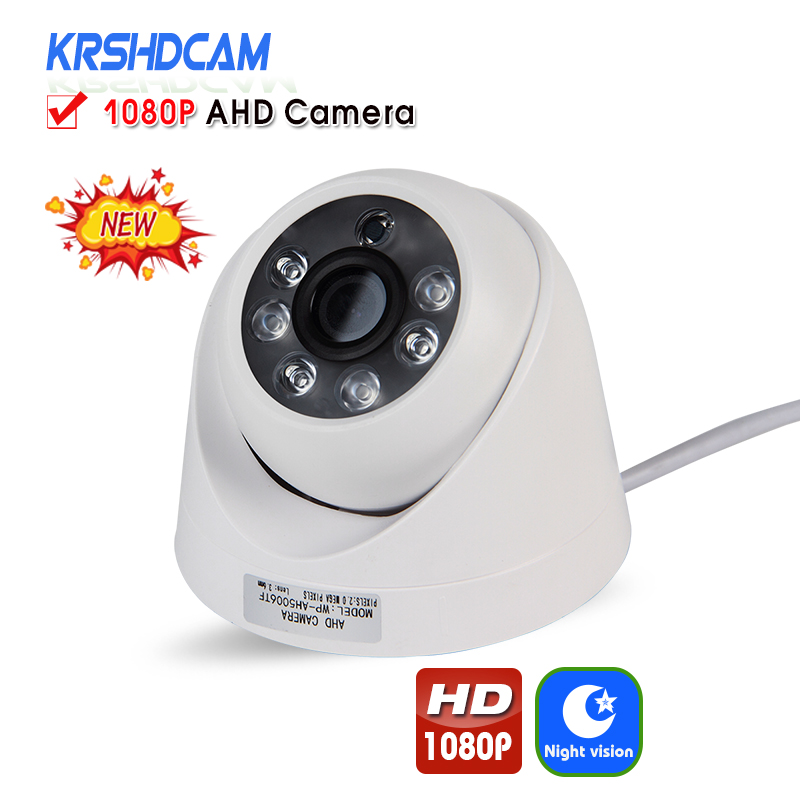 KRSHDCAM Full HD 1080P AHD Camera Bullet indoor Security CCTV 3.6mm lens Night Vision Waterproof IP66 Home Video Surveillance new 2mp hd 1080p ahd security camera cctv white metal mini bullet video surveillance waterproof ir night vision vandal proof