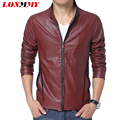 LONMMY 2016 Autumn thin Man PU leather jacket coat Korean Slim Male leather motorcycle jacket Men leather jackets