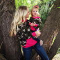Family Mother Daughter Camouflage Clothes Women Kids Girls Hoodie Tops Sweatshirt Autumn Winter Hoodie