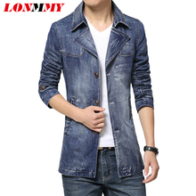 LONMMY M-3XL Denim jacket men windbreaker 2016 jeans jacket mens jackets and coats jaquetas man military coat male Cowboy